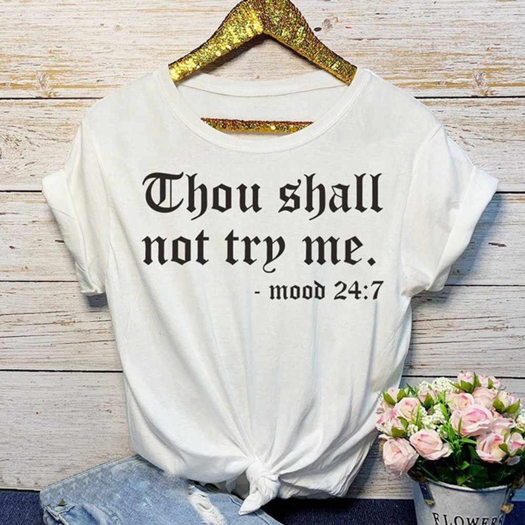 Tシャツ女性のファッションカジュアルな O のネックプリント半袖 Tシャツトップスオーファム Camiseta Mujer トップ女性 Poleras Tシャツ