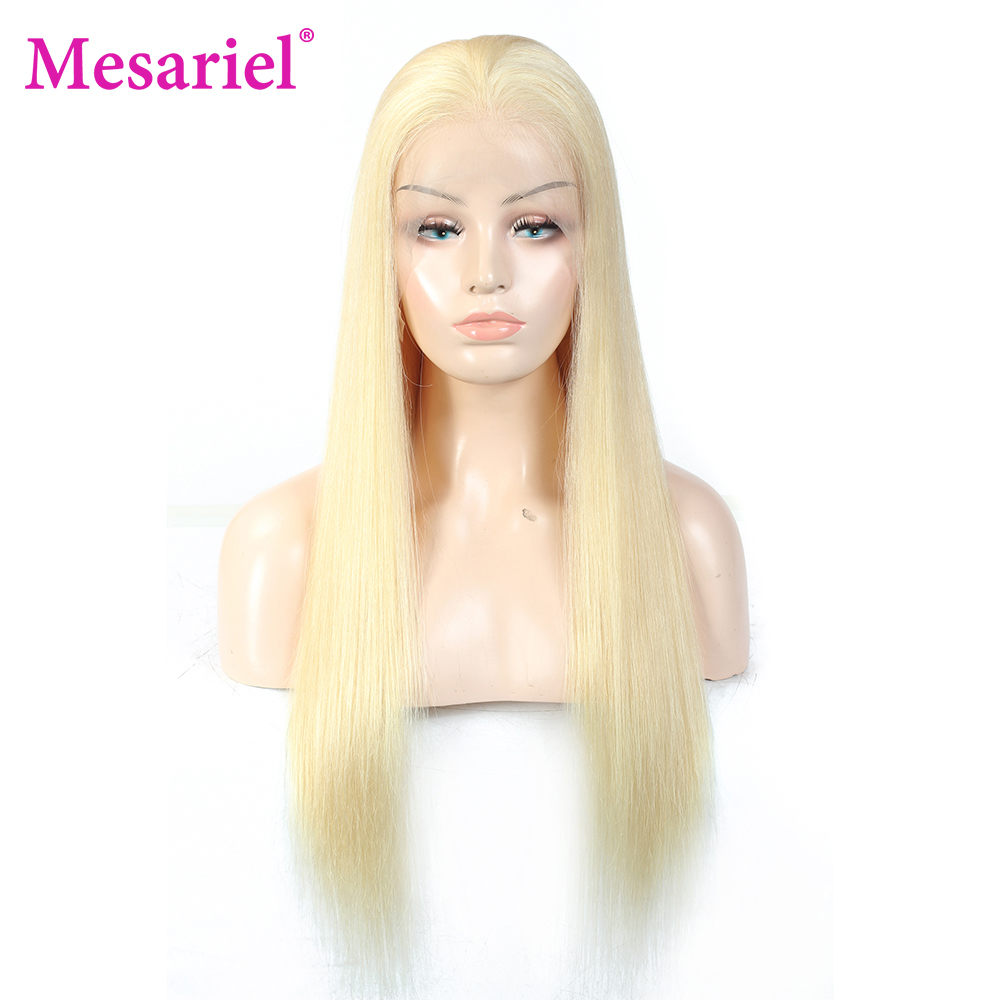 13x6 straight blonde lace front wig human hair (7)