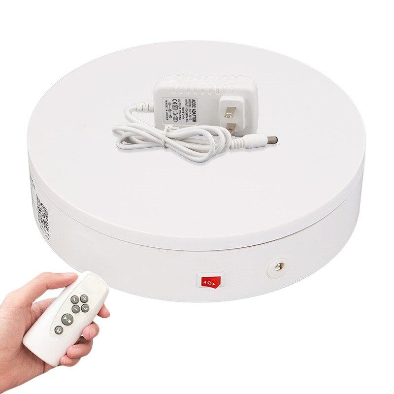 20cm télécommande plaque tournante électrique 360 degrés rotation automatique photographie platine produit vidéo tournage présentoir