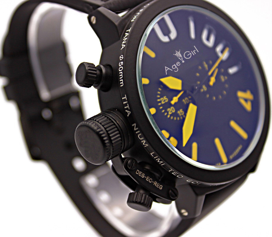 Hand-Watch Boat Mechanical-Left-Hook Gents Sports Automatic Luxury Rubber Classic Black title=