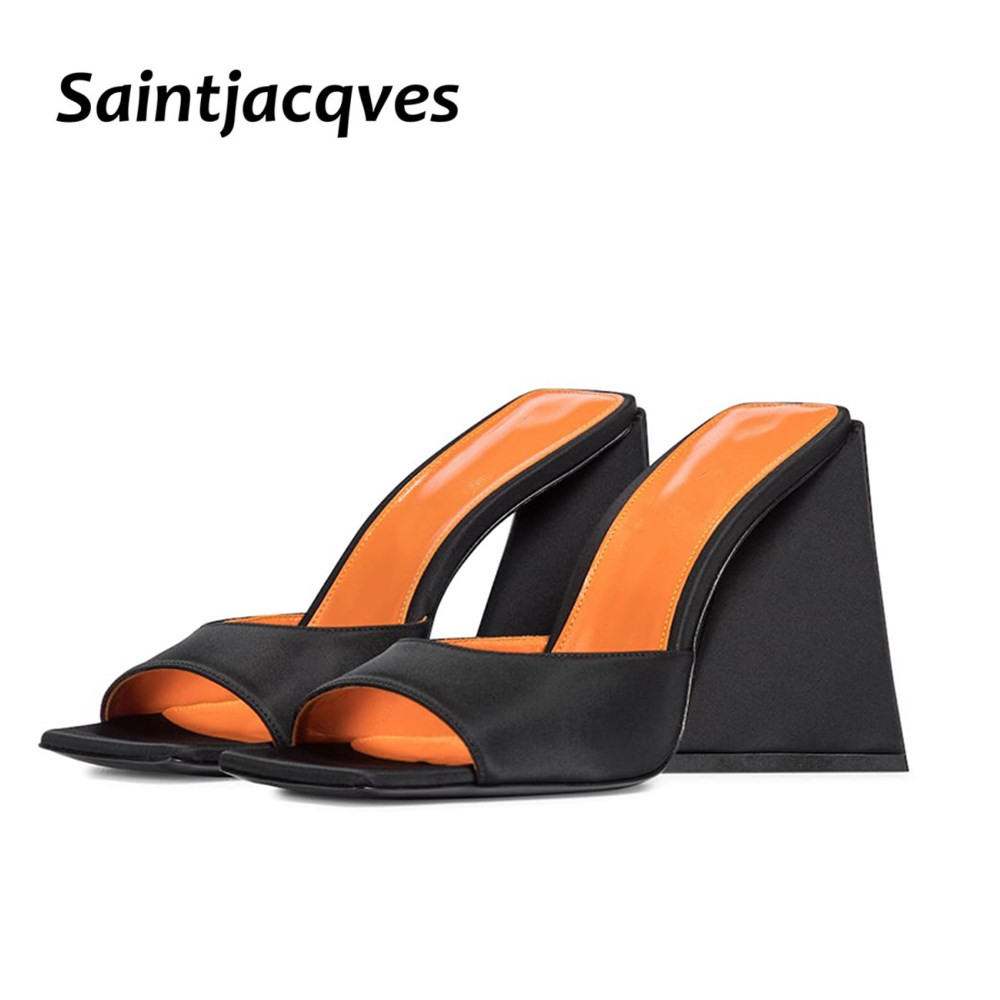 Women's Special Material Sandals Summer Women's Thick-soled High-heeled Slippers 10.5cm Thick-heeled Party Nightclub Slippers