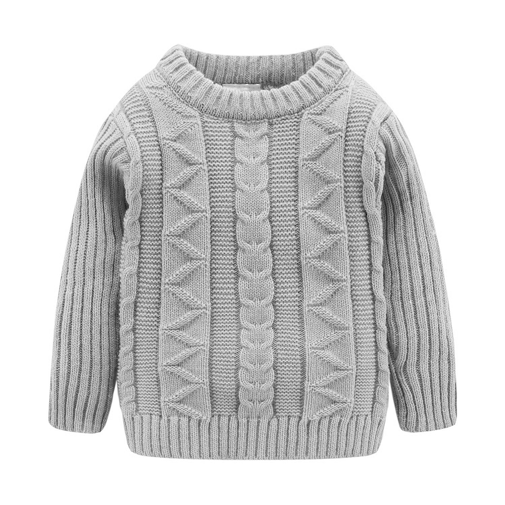 Mudkingdom Boys Sweater Pullover Solid Autumn and Winter Cotton Knitted Sweater Girls Tops Kids Sweaters 4