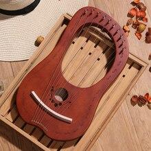 Музыкальный инструмент из массива дерева вечерние 10 16 струны путешествия Профессиональный портативный звук Lier арфа Дети развлечения мини