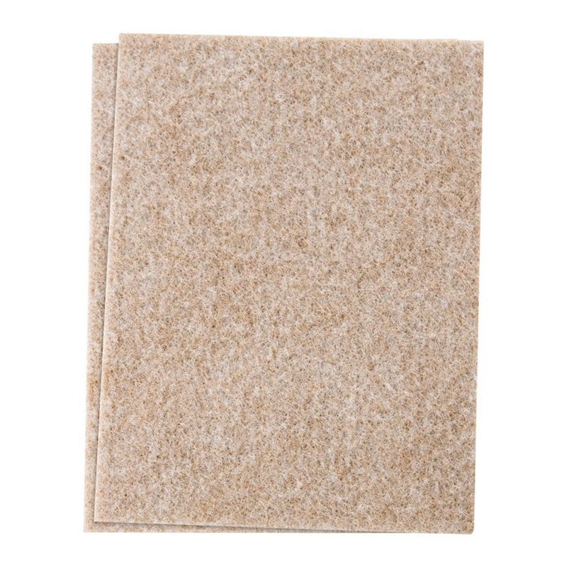 Self-Stick Furniture Felt Sheet For Hard Surfaces To Cut Into Any Shape (2 Pack) Beige