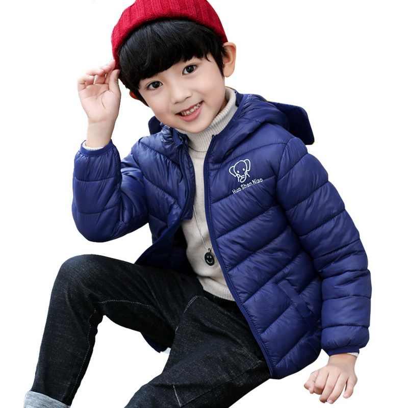 LOOZYKIT/2019 г. Новая теплая куртка, пальто Зимняя Детская милая куртка с ушками из мультфильмов одежда с капюшоном для маленьких мальчиков и девочек топы для детей, верхняя одежда