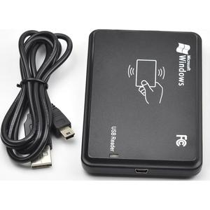 13.56MHz Black USB Proximity Sensor Smart rfid NFC IC Card Reader 14443A with USB Cable no need driver