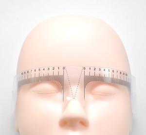 Image 5 - 10PCS Reusable Semi Permanent Augenbraue Herrscher Auge Stirn Messen Werkzeug Augenbraue Guide Herrscher Microblading Sattel Schablone Make Up Werkzeuge