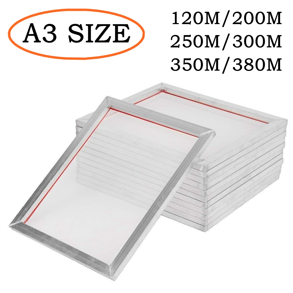 40*30cm Silk Screen Printing Aluminum Frame A3 Screen Frame Stretched With 120M/300M/350M/380M Mesh For Printed Circuit Board
