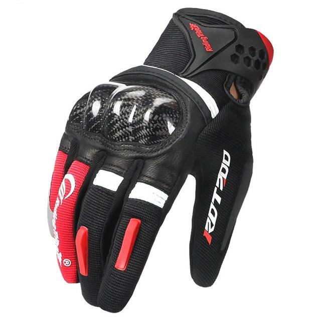 Motorcycle Gloves Motocross Full Finger Motorbike Gloves Touch Screen Glass Fiber Riding Biker Moto Gloves Four Seasons Unisex