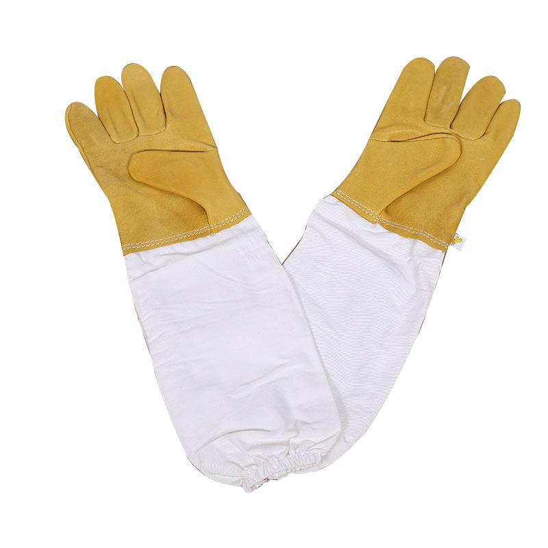 Beekeeper Prevent Gloves Protective Sleeves Ventilated Professional Anti Bee For Apiculture Beekeeper Beehive Yellow