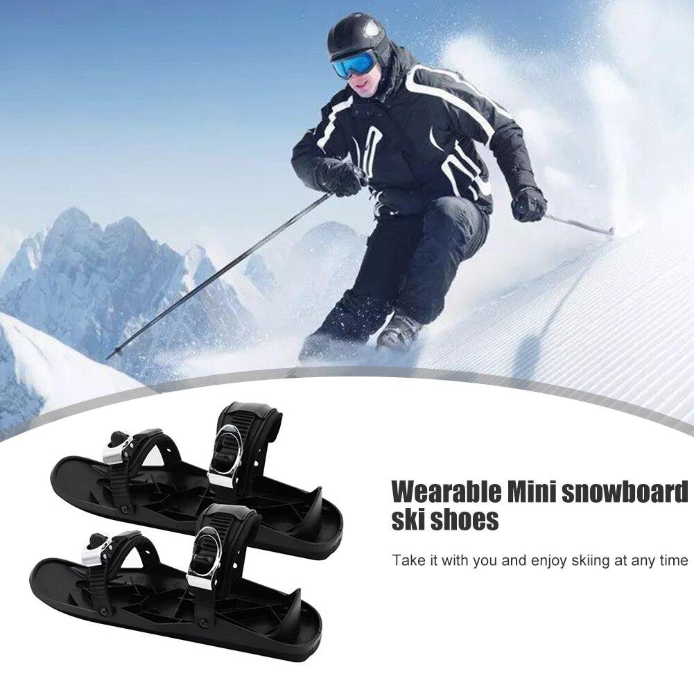 Unisex Winter Ski Skates Shoes Set Easy Safety Exercise Skiboard Mini Snowblades Accessories for Outdoor Sport