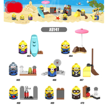 X0141 Model Building Blocks Super Heroes Cartoon Anime Movie New Minions Despicable Me Figures Bricks Dolls Toys for Children