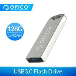 Orico Usb Del Metallo Flash Drive USB3.0 128 Gb 64 Gb 32 Gb 16 Gb Bastone di Memoria Flash Pen Drive Usb bastone in Metallo Impermeabile Memoria Cel Usb