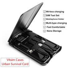 Urban Survival Card multi-function Data Line Conversion Head Wireless Charger Universal Universal Portable Storage Bag