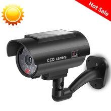 Simülasyon kukla sahte kamera güneş güç su geçirmez açık kapalı güvenlik CCTV gözetim kamerası kamera Bullet yanıp sönen LED ışık