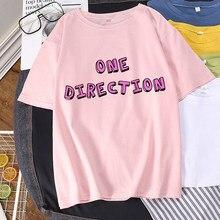 Camisa de t de tamanho grande 1d impressão de uma direção harry estilos camisetas gráficas streetwear topos t feminino harajuku verão mujer camisas
