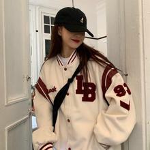 Весеннее пальто американская бейсбольная куртка-бомбер свободного кроя в ретро-стиле для мужчин и женщин, пар Топы Harajuku размера плюс куртки...