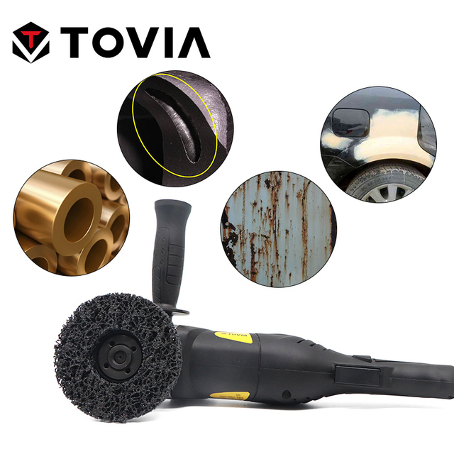 TOVIA Abrasive Grinding Disc 115mm Poly Strip Disc Grinder Wheel Remove Rust Paint Car 125mm Grinding Disc For Angle Grinder