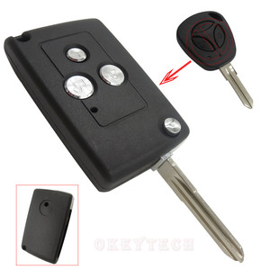 OkeyTech 3 кнопки модифицированный откидной складной чехол для автомобильного ключа для Lada, чехол для пульта дистанционного управления, дизайн Fob, пустой дистанционный ключ