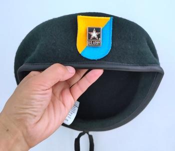 Nowa armia amerykańska 8 Siły specjalne grupa wełna zielony Beret siły specjalne armia amerykańska NSIGNIA czapka wojskowa czapka 1963 ~ 1972 tanie i dobre opinie CINESSD Z wełny CN (pochodzenie) Dla dorosłych Stałe Formalne