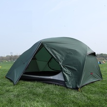 Outdoor camping 2 people lightweight tent 210T20D coated silicon double double aluminum pole four seasons camping tent цены