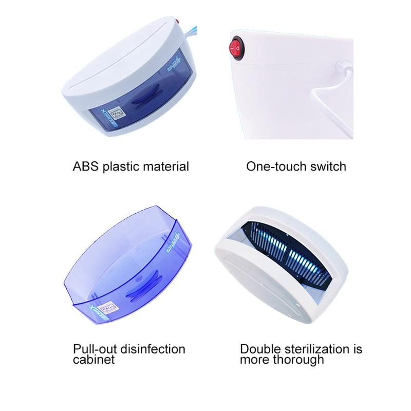 220V EU Plug UV Sterilizer Disinfection Cabinet Ultraviolet Light Sterilization Manicure Tools Household UV Sterilizezation Box 3