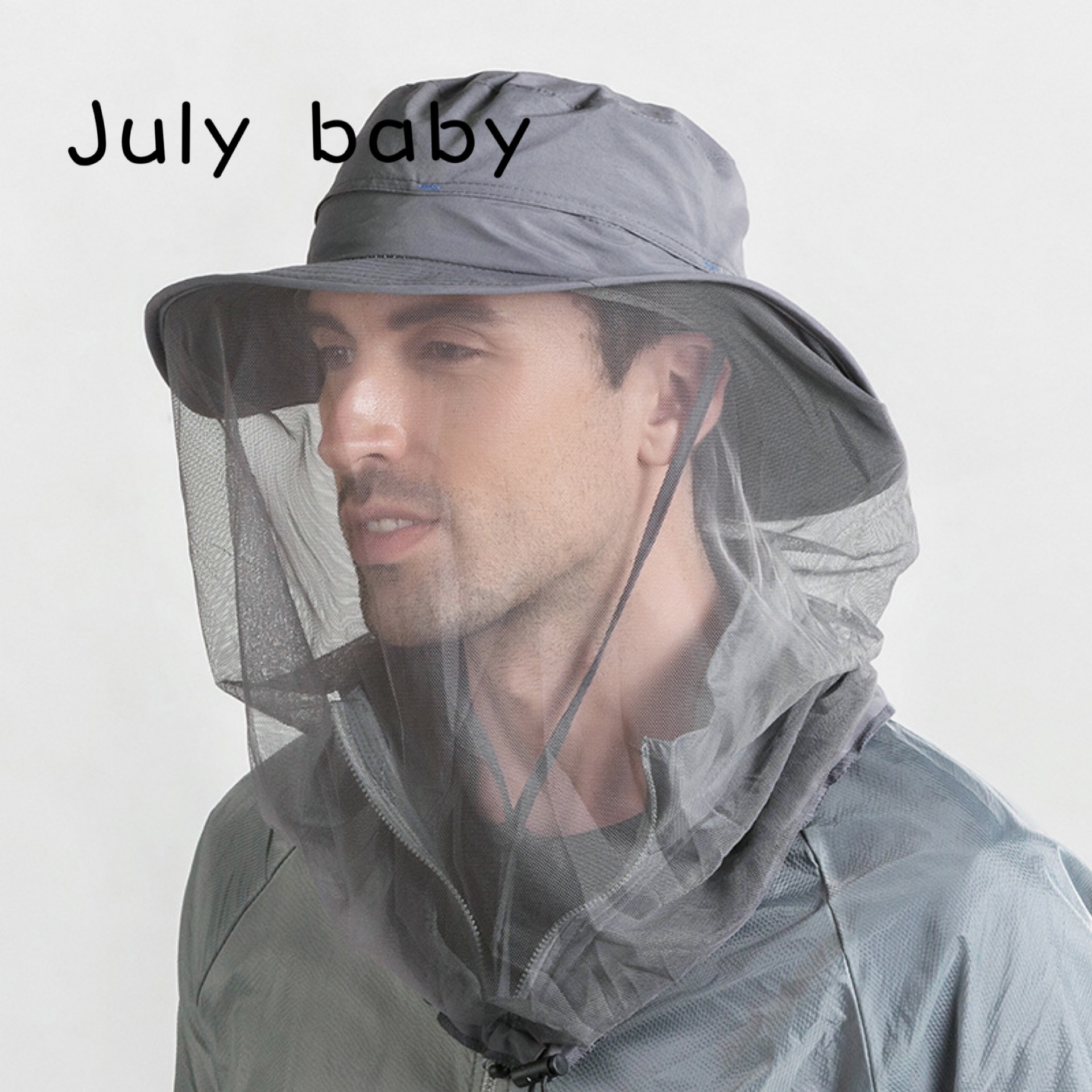 July Baby Outdoor Anti-mosquito Net Hat Sun Hat Sports Cap Fishing Hat Sun Hat Protection Adult Fisherman Hat Cover Face Hat