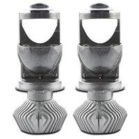 70W/Pair Lamp H4 Led Mini Projector Lens Automobiles Led Bulb Led Conversion Kit Hi/Lo Beam Headlight 12V/24V 5500K White
