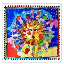 цена на KMS Apollo Silk Women's Large Square Scarf Elegant Women's Silk Scarf 90*90CM/30G
