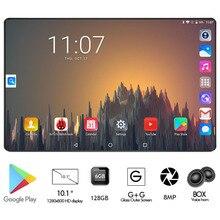 Edition Стекло 10 дюймовый планшет 4 разблокированными аппарат не привязан к оператору сотовой связи 6 ГБ Оперативная память 128 Гб с двумя сим-картами, две камеры, WiFi Android 9,0 gps планшет 10,1 Pad