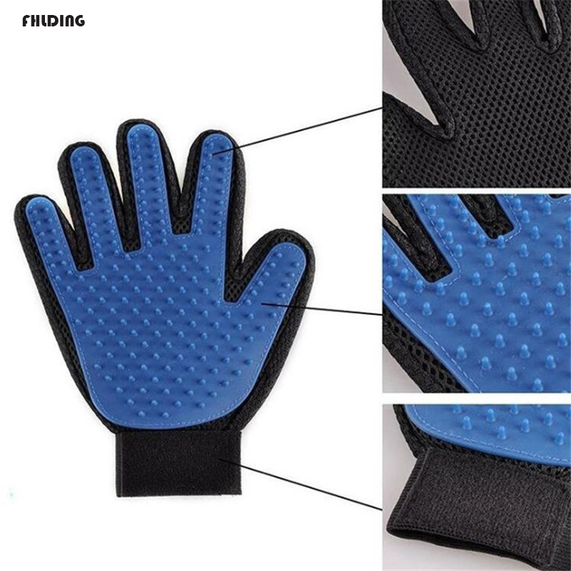 Silicone Pet Soft Dog Brush Glove Pet Grooming Glove For Combing Wool Gentle Dog Bath Cat Combs Cleaning Supplies Hair Remove(China)