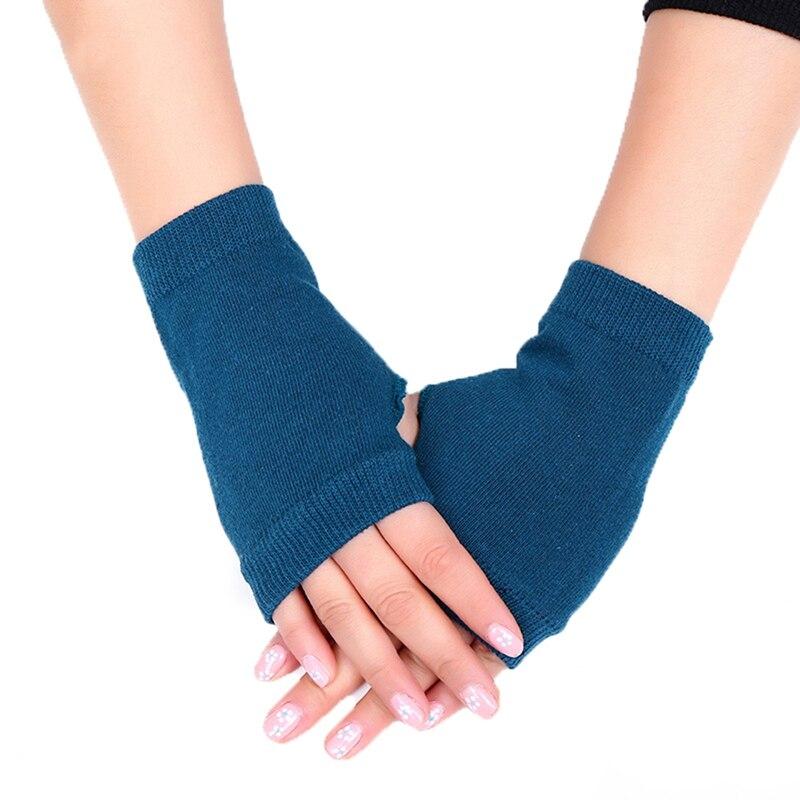 Woman Girl Warm Knitted Gloves Half Finger Fingerless Gloves Winter Women Soft Arm Warm Mitten Women Drop Ship