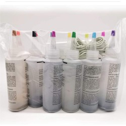 8 Bottles Kit Muti-Color Dyes Permanent Paint Tie Dye Kit Permanent One Step Tie Dye Set For DIY Arts Clothes Fabric Drop#Y20