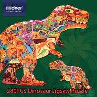 Mideer 280pcs 지그 소 퍼즐 어린이 지능 공룡 퍼즐 조기 교육 장난감 3-4-5-6 세 퍼즐 퍼즐 장난감