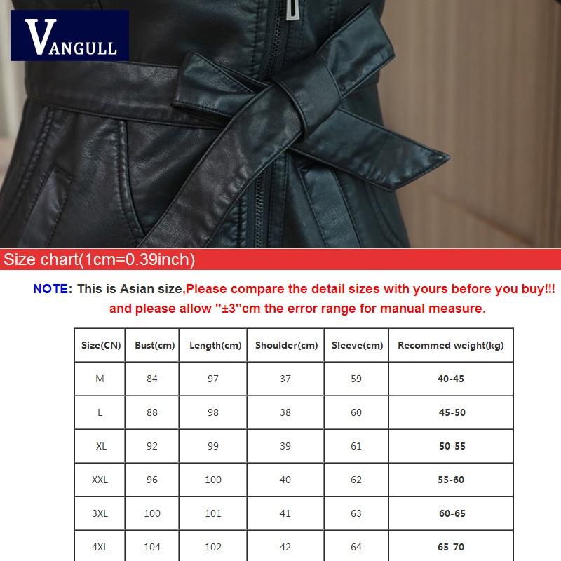 Vangull Women s Leather Jacket for Winter 2021 New Plus Velvet Warm Slim Big Fur Collar Vangull Women's Leather Jacket for Winter 2021 New Plus Velvet Warm Slim Big Fur Collar Long Leather Coat Female Outerwear M-4XL