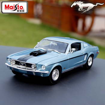 Maisto 1:18 1968 Ford Mustang GT car alloy car model simulation car decoration collection gift toy Die casting model boy toy 1 18 diecast model for ford tourneo brown mpv alloy toy car miniature collection gift