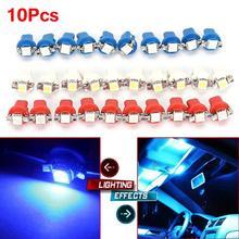 цена на 10Pcs B8.3D 5050 Led 1 SMD T5 Lamp Car Gauge Speed Dash Bulb Dashboard instrument Light Wedge Interior Lamp 10X Panel Bulb Light