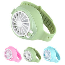 Portable Summer Mini Fan horloge Creative Simple Oplaadbare USB Folding Fashion Pocket kleine ventilator Third Gear Electric(China)