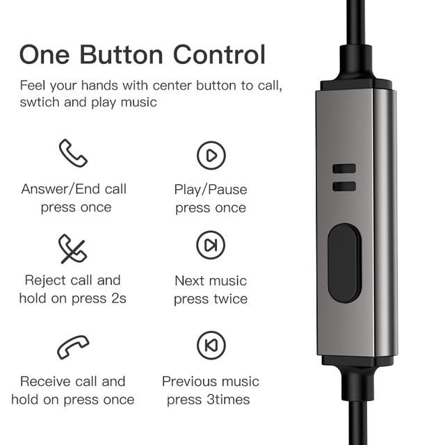 KUULAA Earphones with Microphone Wired Earbuds in Ear Deep Bass 3.5mm Jack for iPhone 6 5 Xiaomi Samsung Huawei Fone De ouvido 1