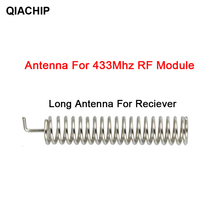 QIACHIP 20 seti 433MHz RF bahar anten RF alıcı verici modülü 433 MHZ akıllı ev ışık için kablosuz uzaktan kumanda anahtarı