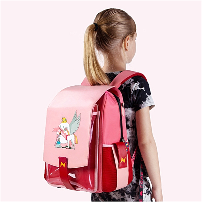 NOHOO Children School Bags For Boys Girls Orthopedic Waterproof School Backpacks Book Bag Cartoon Unicorn Backpack For 6-11 Year