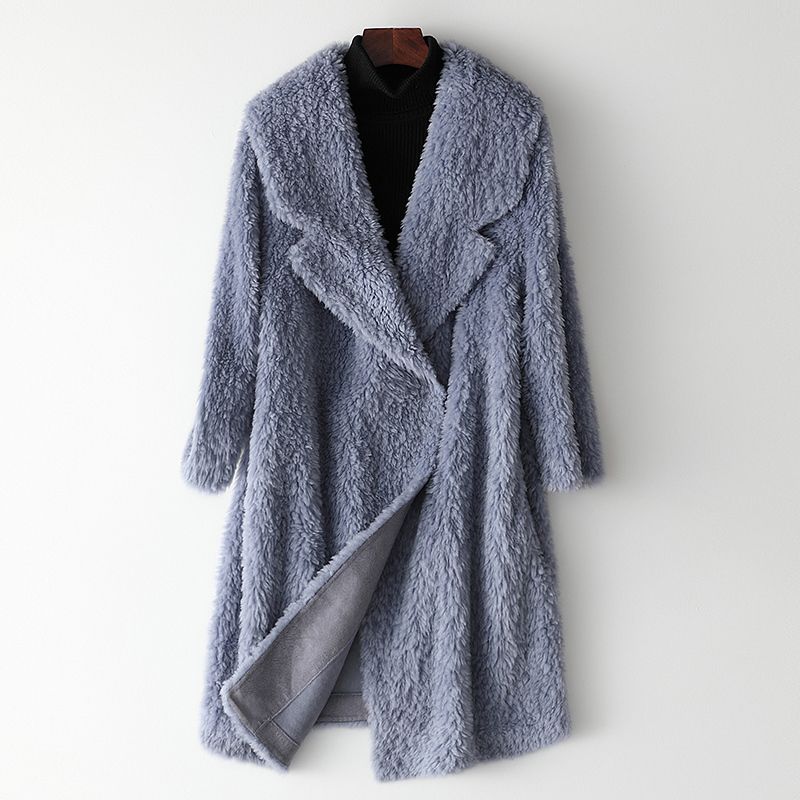 Real Shearling Sheep Fur Coat Winter Jacket Women Clothes 2020 Real Wool Coat Female Korean Long Jacket Manteau Femme My