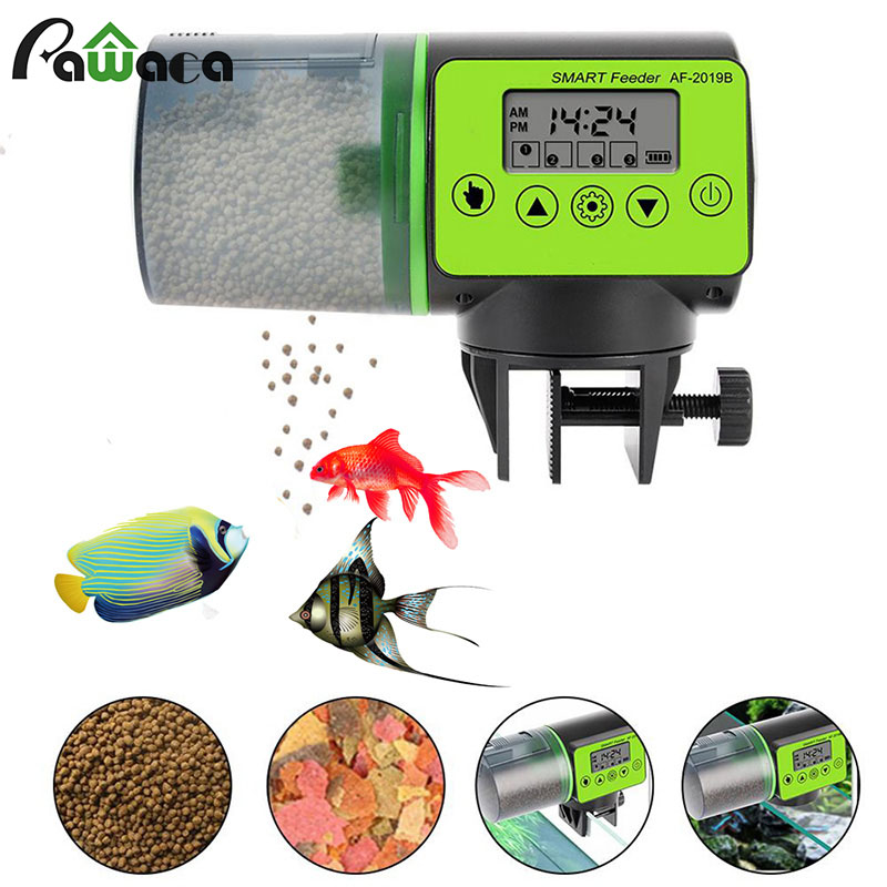 Automatic Fish Feeder Digital Aquarium Fish Tank Electric Timer Plastic Feeders Portable Food Dispenser Feeding Fish Feeder Tool