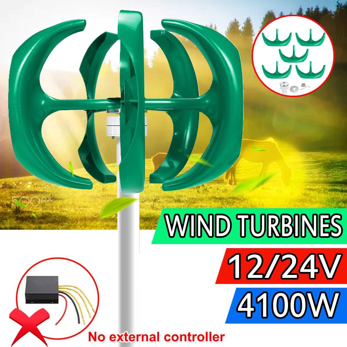 4100w 12v 24v eixo vertical turbinas eólicas