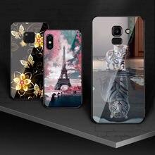 For Samsung Galaxy J2 2018 J2 Pro 2018 J3 2017 Case Tempered Glass For Samsung Galaxy J4 2018 J5 2017 J6 2018 J7 J7 Prime Cover аксессуар чехол with love moscow samsung galaxy j7 2017 кожаный black 10207