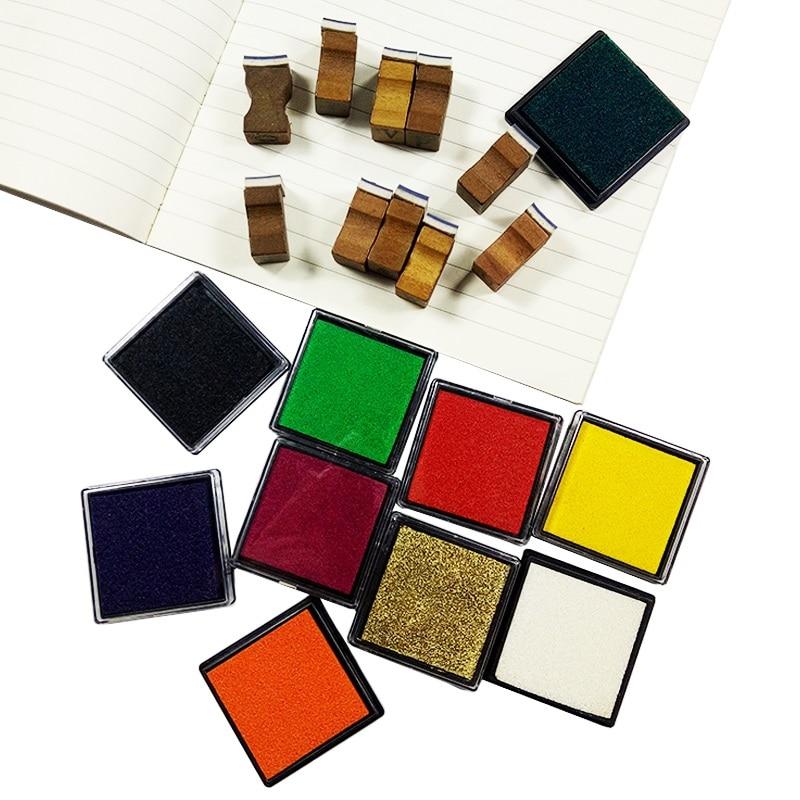 2pcs/lot New Arrival Color Ink Pad Gift Inkpad For DIY Stamping Work Fingerprint Inkpad
