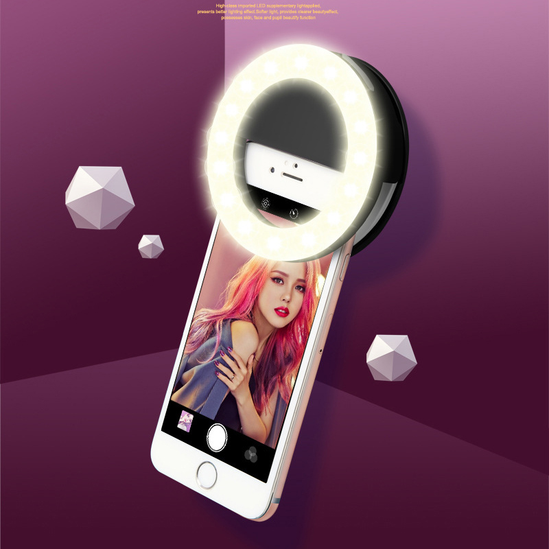 Led Selfie Ring Built In Battery Internet Celebrity Dedicated 3 Modes Camera Enhancing Photography Beauty Lamp Night Light Bulbs