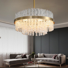 цена на LED American crystal chandelier living room dining room bedroom lighting simple modern twist crystal decoration lamp