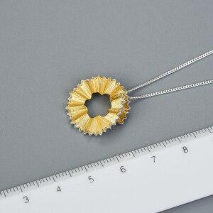 Image 4 - Lotus zabawy prawdziwe 925 Sterling Silver Handmade Fine Jewelry kreatywny ołówek wióry projekt wisiorek bez naszyjnik dla kobiet prezent