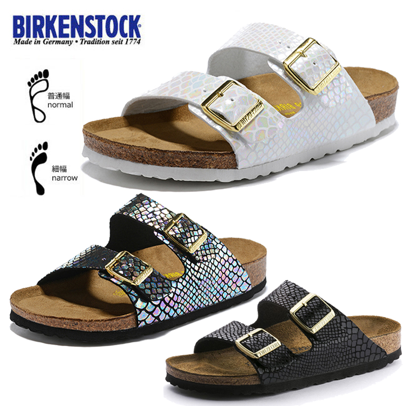 BIRKENSTOCK Cork Slippers For Men And Women Wearing Flat-bottomed Fashion Sandals Arizona Large Size Shoes